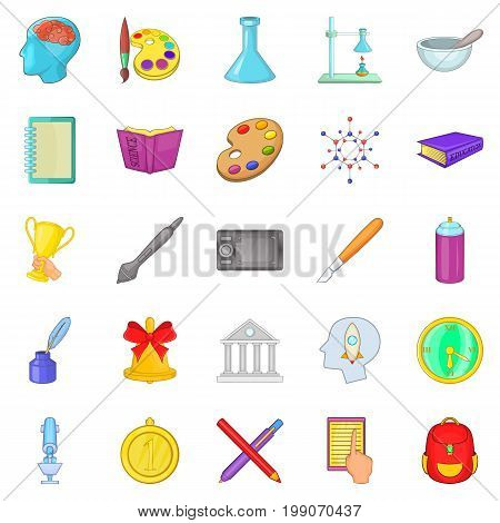 Fundamental icons set. Cartoon set of 25 fundamental vector icons for web isolated on white background