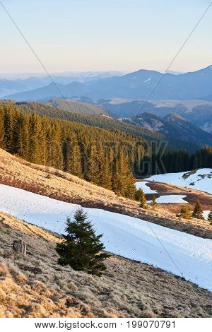 Beautiful Mountains View Hiking Travelling Active Recreation Concept