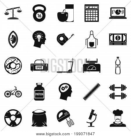 Libra icons set. Simple set of 25 libra vector icons for web isolated on white background