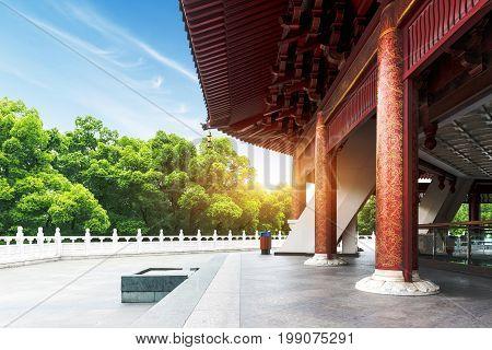 Lei Fengta - the famous ancient pagoda Hangzhou China West Lake.