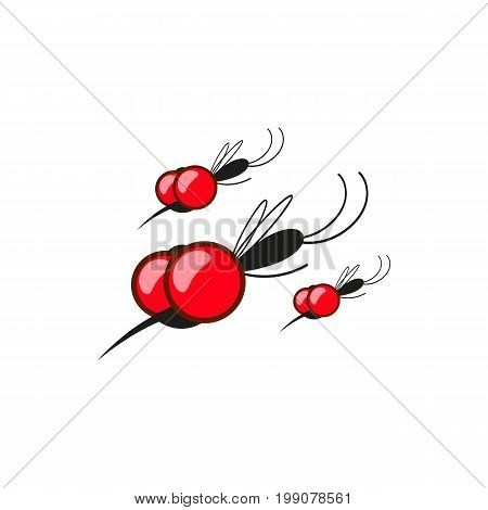 Insect. a realistic mosquito. Mosquito silhouette. Mosquito isolated on white background.
