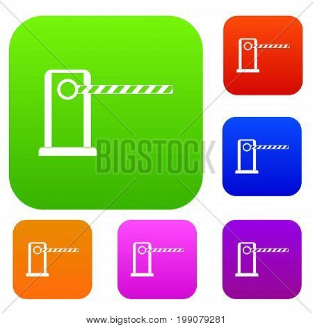 Parking entrance set icon in different colors isolated vector illustration. Premium collection