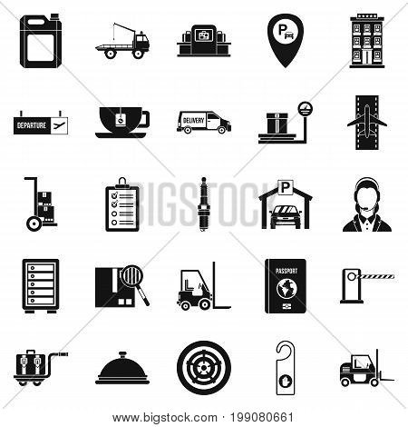 Loader icons set. Simple set of 25 loader vector icons for web isolated on white background