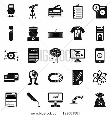 Mortgage icons set. Simple set of 25 mortgage vector icons for web isolated on white background