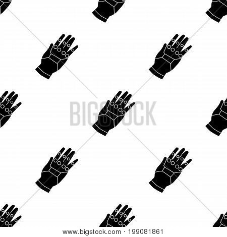 Virtual reality glove controller icon in black style isolated on white background. Virtual reality symbol vector illustration.