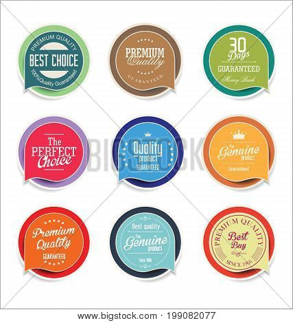 Modern Sale Sticker And Tag Colorful Collection 4.eps