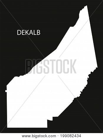 Dekalb County Map Of Alabama Usa Black Inverted Illustration