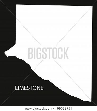 Limestone County Map Of Alabama Usa Black Inverted Illustration