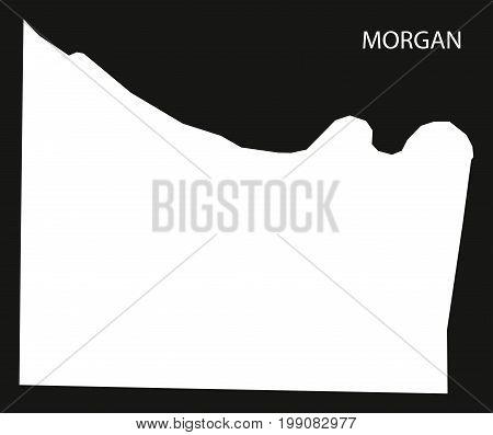 Morgan County Map Of Alabama Usa Black Inverted Illustration
