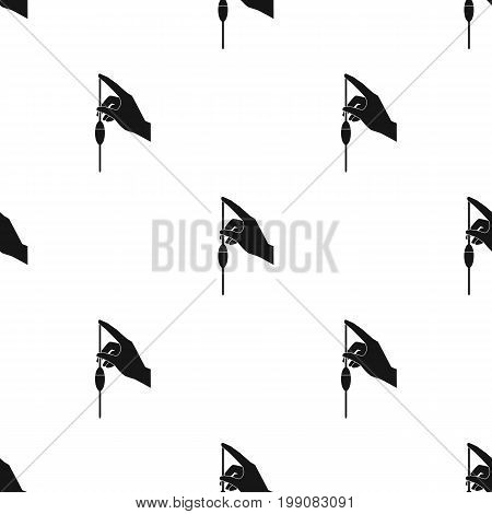 Filling of a bulb pipette by water icon in black design isolated on white background. Water filtration system symbol stock vector illustration.