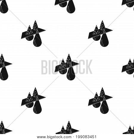Water filtration icon in black design isolated on white background. Water filtration system symbol stock vector illustration.