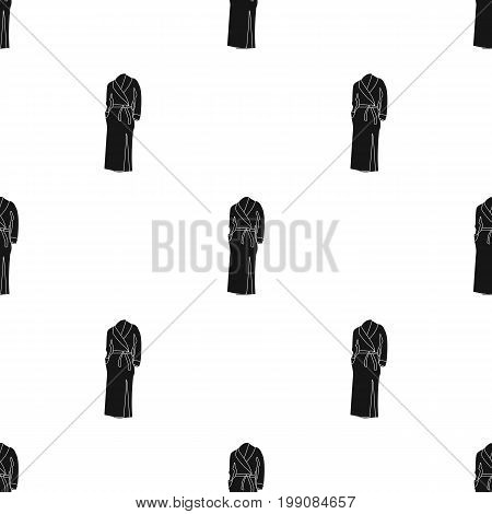 Pink lady's gown after bath. Home clothes for women.  Woman clothes single icon in black style vector symbol stock web illustration.
