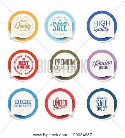 Modern Sale Sticker And Tag Colorful Collection 2.eps