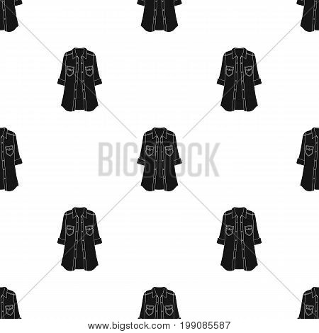 Green Women's jacket with buttons and short sleeves. Casual wear for the stylish woman.Women clothing single icon in black style vector symbol stock web illustration.
