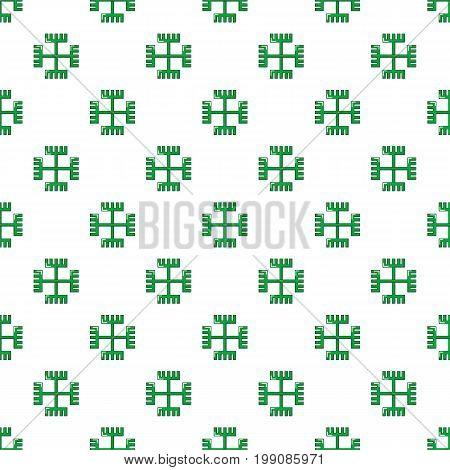 Pagan ancient symbol pattern in cartoon style. Seamless pattern vector illustration