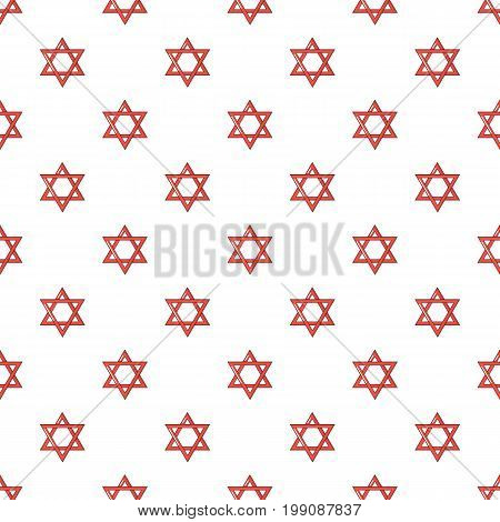 Star of david judaism pattern in cartoon style. Seamless pattern vector illustration