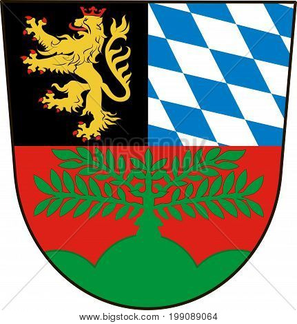 Coat of arms of Weiden in Upper Palatinate in Bavaria Germany. Vector illustration from the