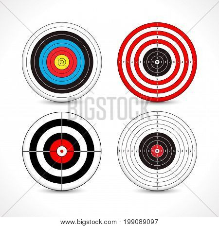 Target range - few targets for shooting exercises
