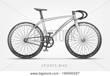 sports bike in white color with curved handlebars