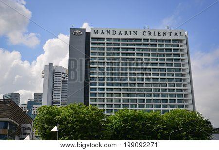 Modern Buildings In Marina Bay, Singapore