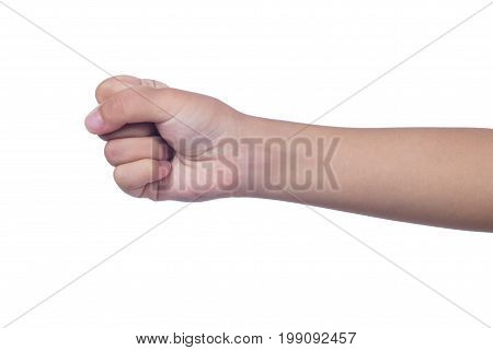 Close Up Of A Child's Clenched Fist