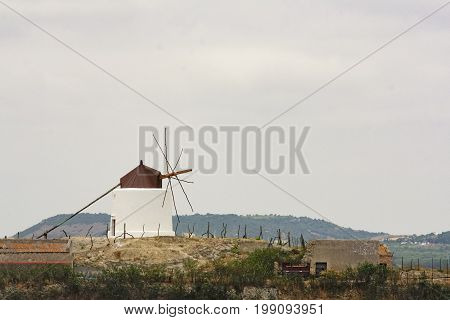 Typical windmill of Vejer de la frontera south of Spain