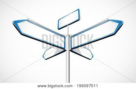 Directional signpost silhouettes - four direction to choice