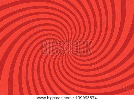 Vector Illustration For Swirl Design. Swirling Radial Pattern Background. Vortex Starburst Spiral Tw