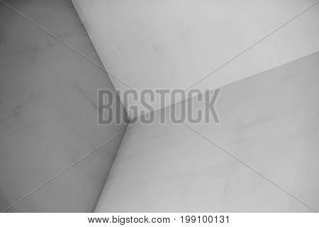Walls converge at a corner. Unusual viewpoint. Abstract background