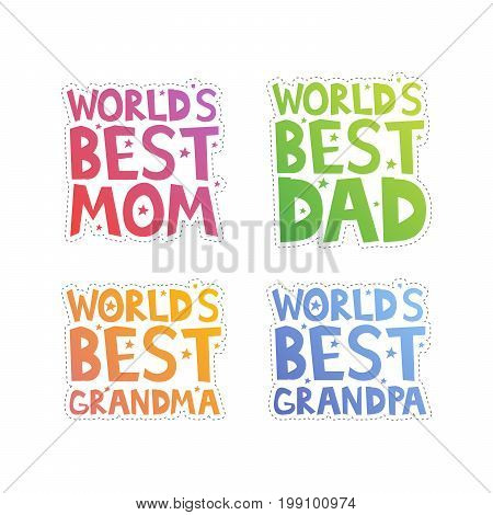 World Best Relatives Cut-out