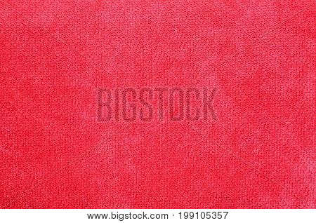 Pattern of red flannel texture and background