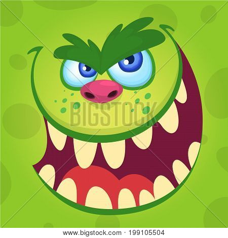 Halloween illustration goblin or troll. Vector illustration of troll face avatar