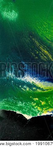 Abstract blue and green artistic background. Spots and streaks of colors.