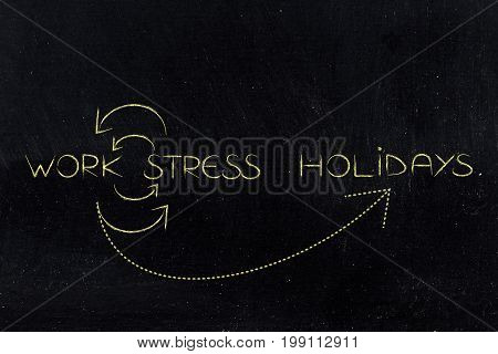 Work And Stress Repeating Until Holidays