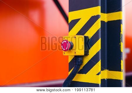 Emergency Button On The Conveyor