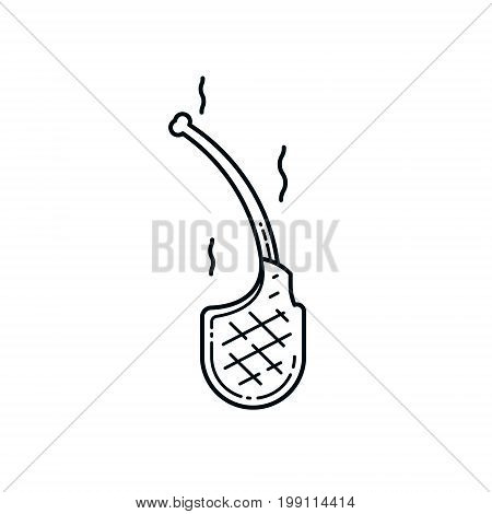 Lamb chop icon isolated on white background. Meat product. Design elements for restaurant menu poster emblem sign.