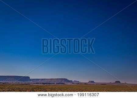At the intersection of Route 160 and 238 the panoramic views allow for beautiful views on the Ute Mountain Reservation.
