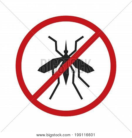 Anti mosquito sign. Stop mosquito. Vector stock.