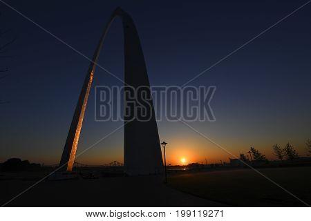 Gateway Arch In St. Louis, Missouri