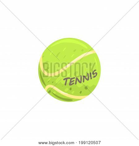 Tennis ball sport equipment cartoon vector Illustration on a white background