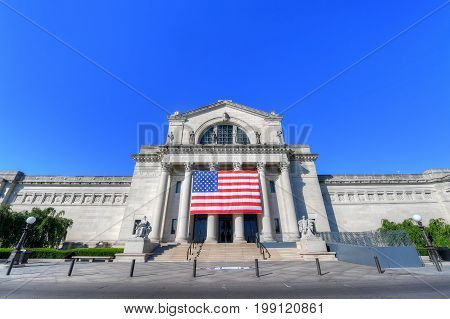St. Louis Missouri - June 20 2017 - The St. Louis Art Museum in Forest Park St. Louis Missouri.