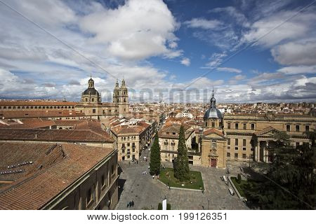 Aerial view of the center of Salamanca. Spain