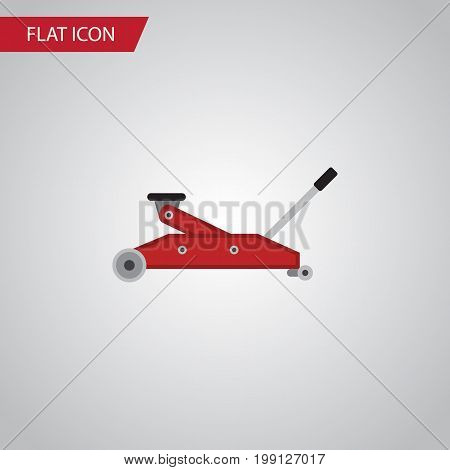 Lifting Vector Element Can Be Used For Car, Jack, Lifting Design Concept.  Isolated Jack Flat Icon.