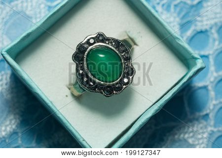 Silver Ring Nephrite
