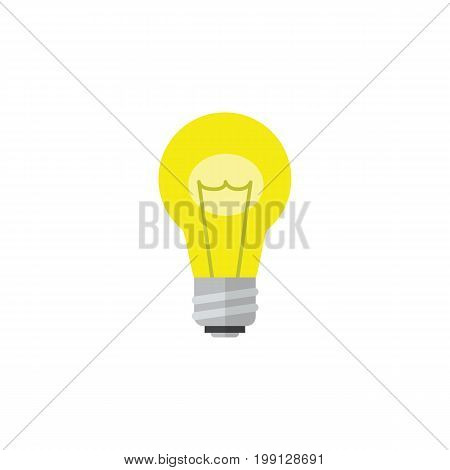 Bubl Vector Element Can Be Used For Idea, Bulb, Light Design Concept.  Isolated Idea Flat Icon.