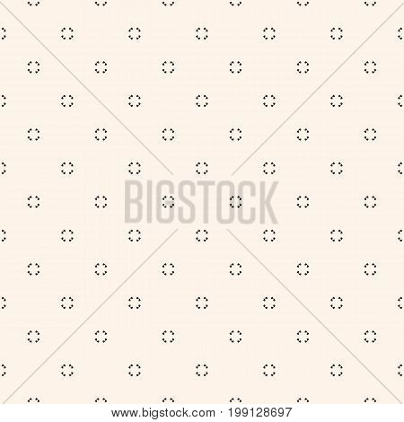 Universal vector seamless pattern. Simple light geometric texture. Abstract monochrome minimalist background with tiny floral shapes. Design element for decor, prints, covers, package, textile, fabric.