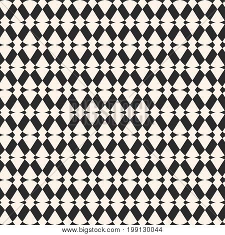Rhombus seamless pattern. Abstract geometric texture with intersecting geometrical shapes, rhombuses lines. Simple monochrome ornamental background. Repeat tiles. Elegant decorative design element. Mesh pattern, design pattern, ornament pattern.