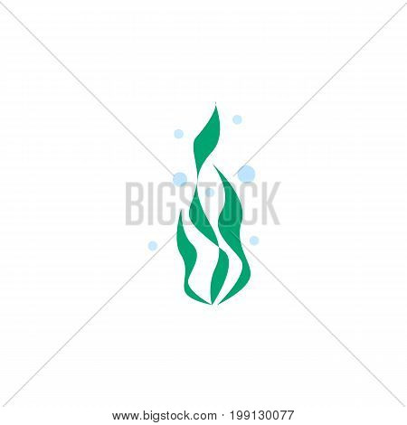 Seaweed Vector Element Can Be Used For Seaweed, Water, Plant Design Concept.  Isolated Water Plant Flat Icon.