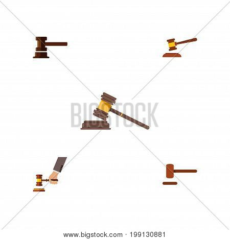 Flat Icon Court Set Of Court, Government Building, Crime And Other Vector Objects