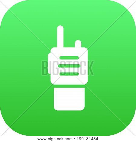 Vector Walkie-Talkie Element In Trendy Style.  Isolated Ratio Icon Symbol On Clean Background.